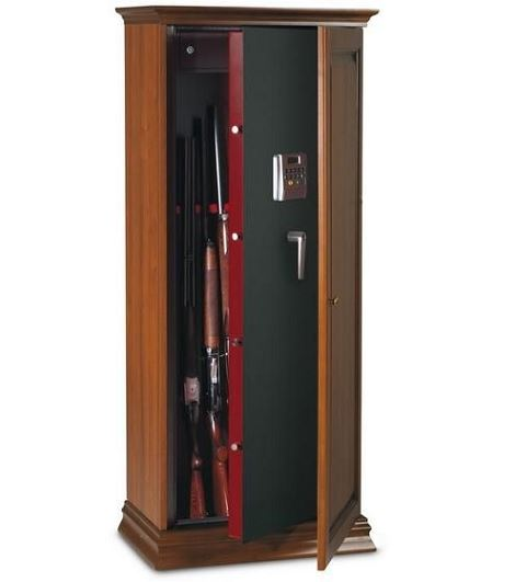 algoris armoire forte revetue de bois pour vos fusils. Black Bedroom Furniture Sets. Home Design Ideas